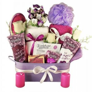 Purple Passion – Spa Christmas Gift Basket For Her