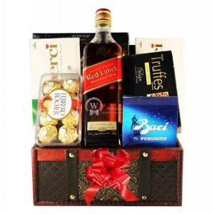 Red Johnnie Walker Christmas Gift Basket