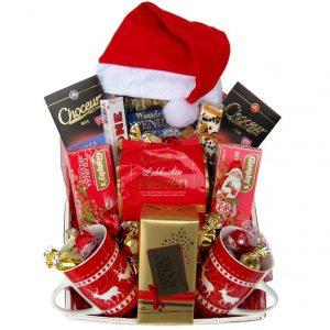 Santa Christmas Tea Christmas Gift Basket