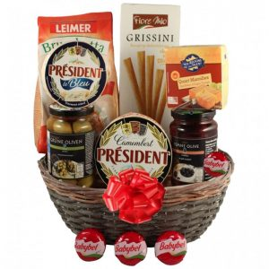 Season Greeting Christmas Gift Basket
