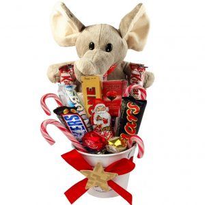 Sweet Elephant Christmas Gift Bucket