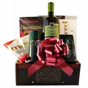 Sweet Inspiration – Wine Christmas Gift Basket