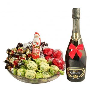Sweet me up – Christmas Platter with Sparkling Wine Gift
