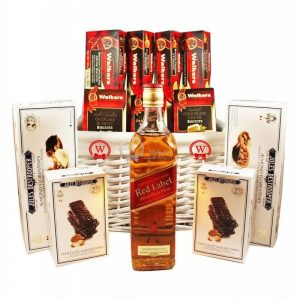 Top European Cookies – Red Label Whiskey Christmas Gift Basket