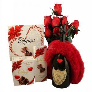 Top Romance – Dom Perignon Champagne Christmas Gift